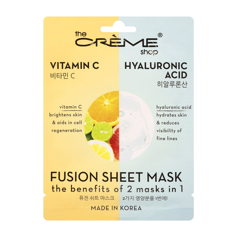 Vitamin C & Hyaluronic Acid Fusion Sheet Mask Fusion Sheet Masks The Crème Shop Single