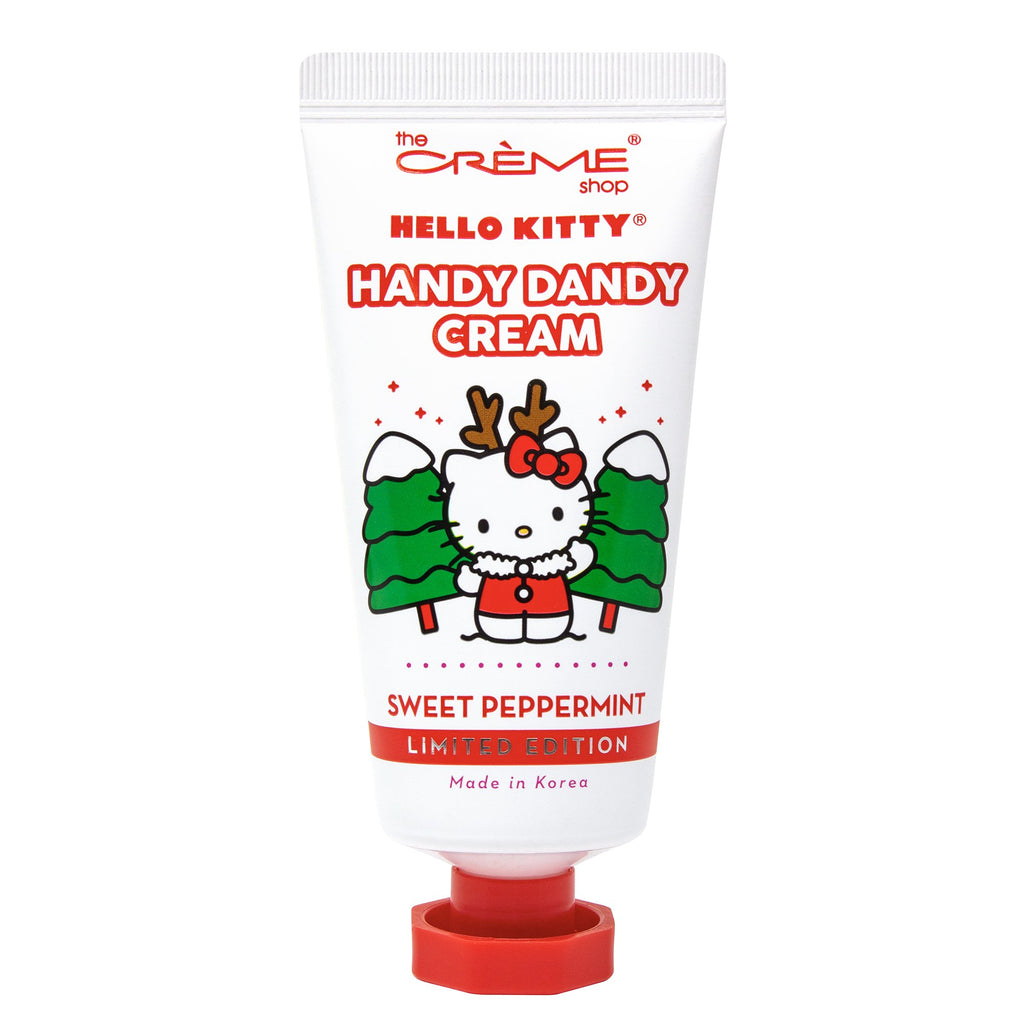 Hello Kitty Handy Dandy Cream – Holiday Sweet Peppermint Holiday Hand Creams The Crème Shop x Sanrio