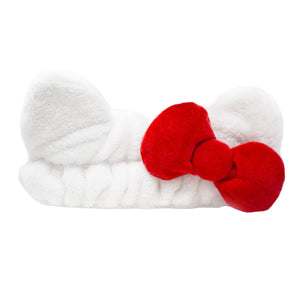Plush Spa Headband with Hello Kitty's Signature Bow - The Crème Shop