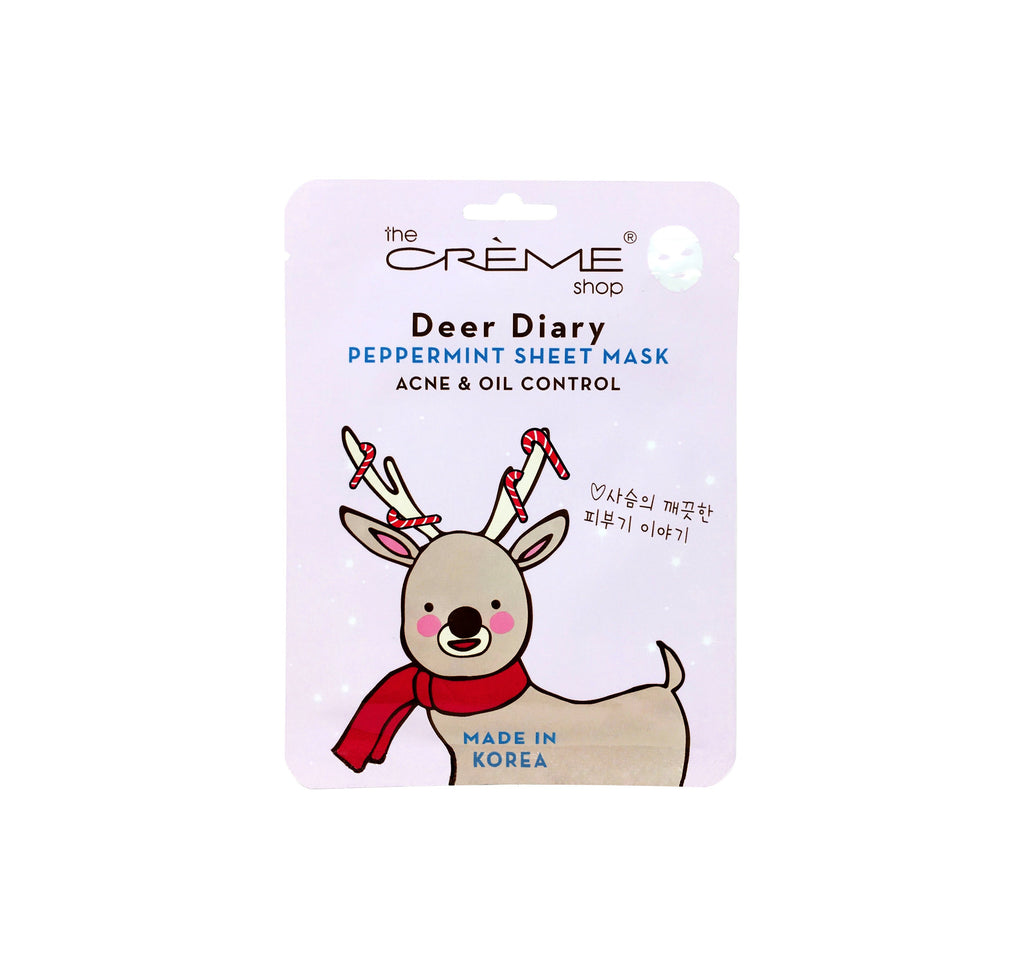 Deer Diary Peppermint Sheet Mask - Acne & Oil Control - the-creme-shop-cosmetics-and-beauty-supply
