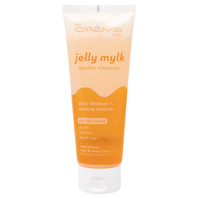 Jelly Mylk Double Cleanser - Peach + Oatmeal + French Clay Facial Cleansers The Crème Shop