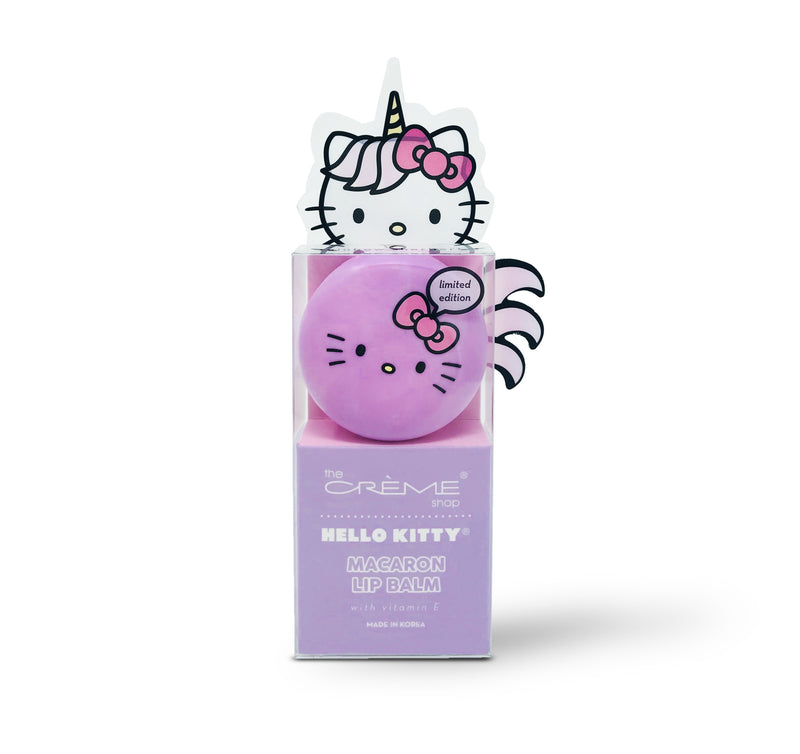 Hello Kitty Unicorn Macaron Lip Balm - Rainbow Sherbert - the-creme-shop-cosmetics-and-beauty-supply