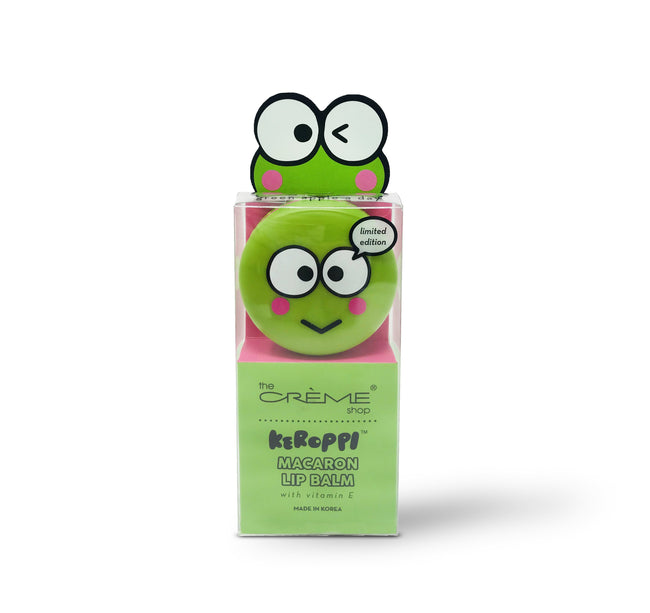 Keroppi Macaron Lip Balm - Green Apple A Day