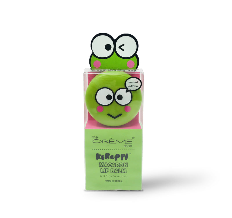 Keroppi Macaron Lip Balm - Green Apple A Day - The Crème Shop