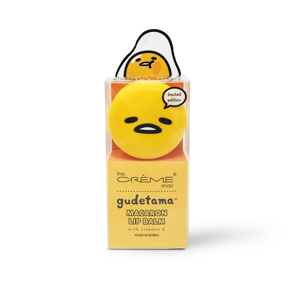 Gudetama Macaron Lip Balm - Pineapple Sherbert - the-creme-shop-cosmetics-and-beauty-supply