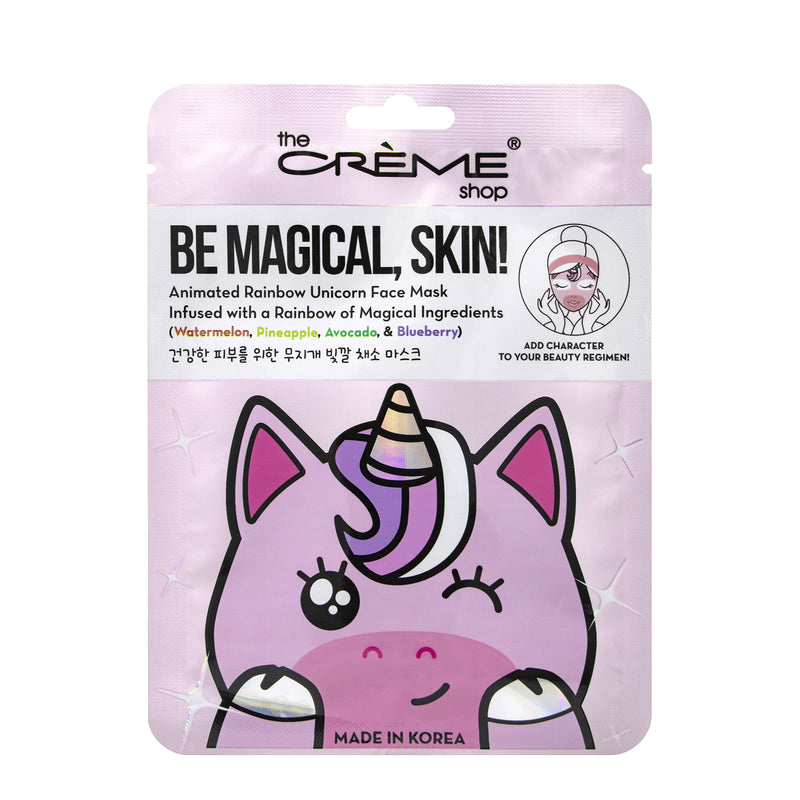 Be Magical, Skin! Animated Rainbow Unicorn Face Mask - Rainbow of Magical Ingredients - The Crème Shop