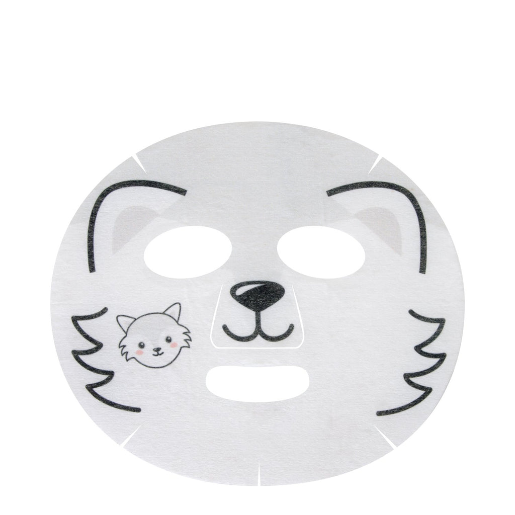 Chill Out, Skin! Animated Arctic Fox Face Mask - Hydrating & Cooling Glacial Water - The Crème Shop
