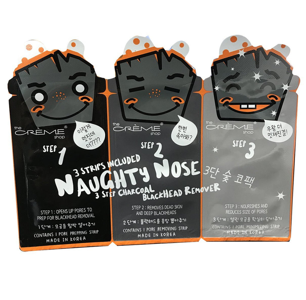 Naughty Nose (Charcoal) 3 - Step Blackhead Remover - the-creme-shop-cosmetics-and-beauty-supply