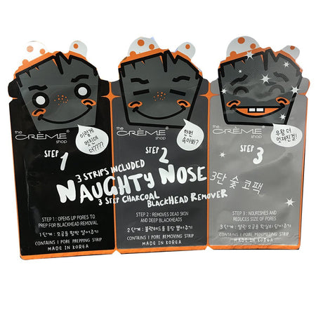 Naughty Nose (Charcoal) 3 - Step Blackhead Remover - The Crème Shop