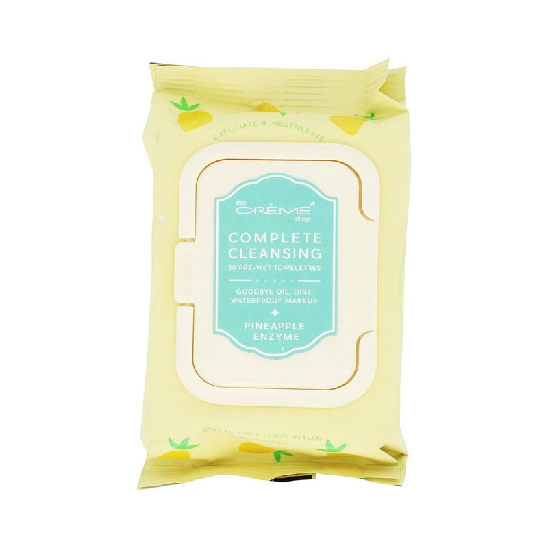 Pineapple Enzyme 30 Pre-Wet Towelettes - The Crème Shop