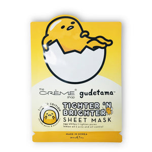 Gudetama Tighter 'N Brighter Sheet Mask - The Crème Shop