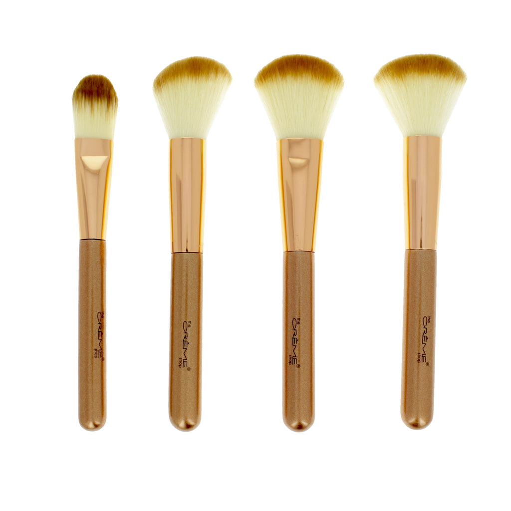 Work of Art  - 4 Brushes for a Picture Perfect Finish Rose Gold - the-creme-shop-cosmetics-and-beauty-supply