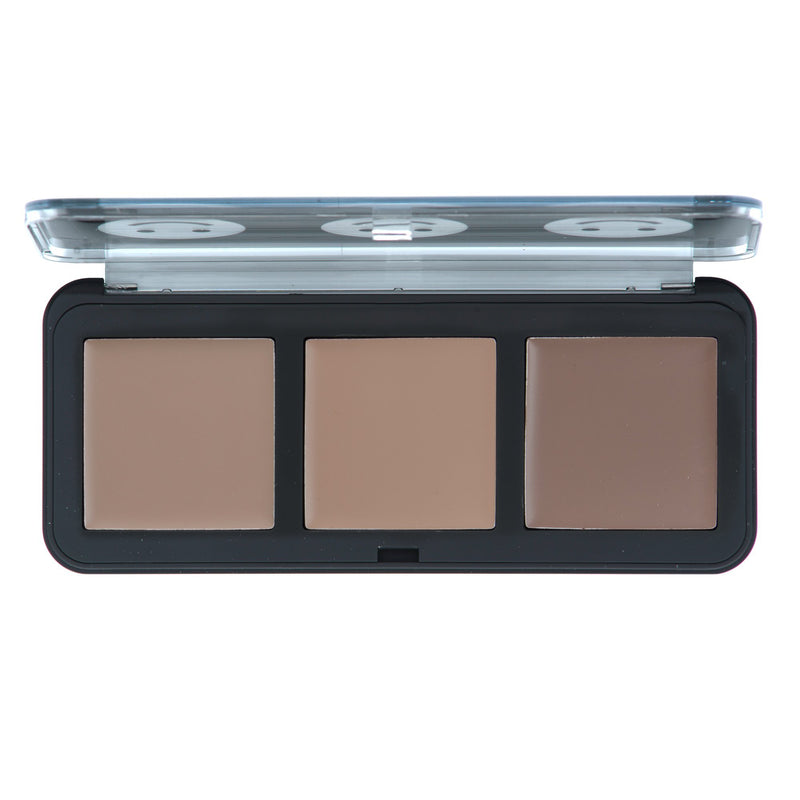 """123 Smile"" Shading Cream Trio Palette in Light - the-creme-shop-cosmetics-and-beauty-supply"