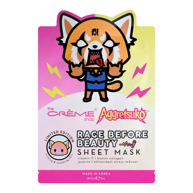 Aggretsuko Rage Before Beauty Sheet Mask - The Crème Shop