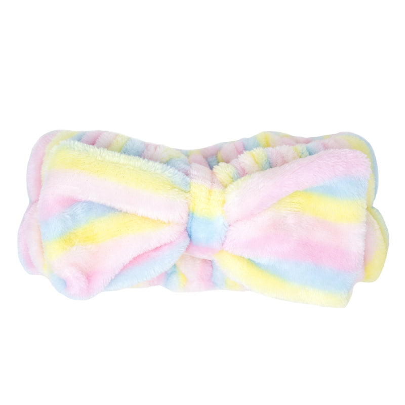 Pastel Striped Spa Teddy Headyband™ - Cruelty-Free, Vegan Headbands The Crème Shop