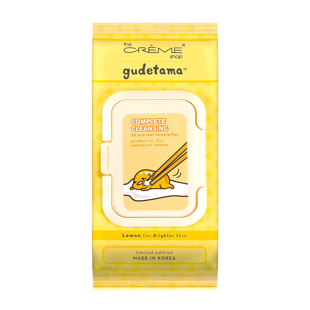 Gudetama 20ct Pre-Wet Towelettes The Crème Shop x Sanrio The Crème Shop