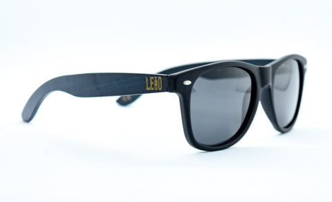 Image of Black Matte Bamboo Sunglasses