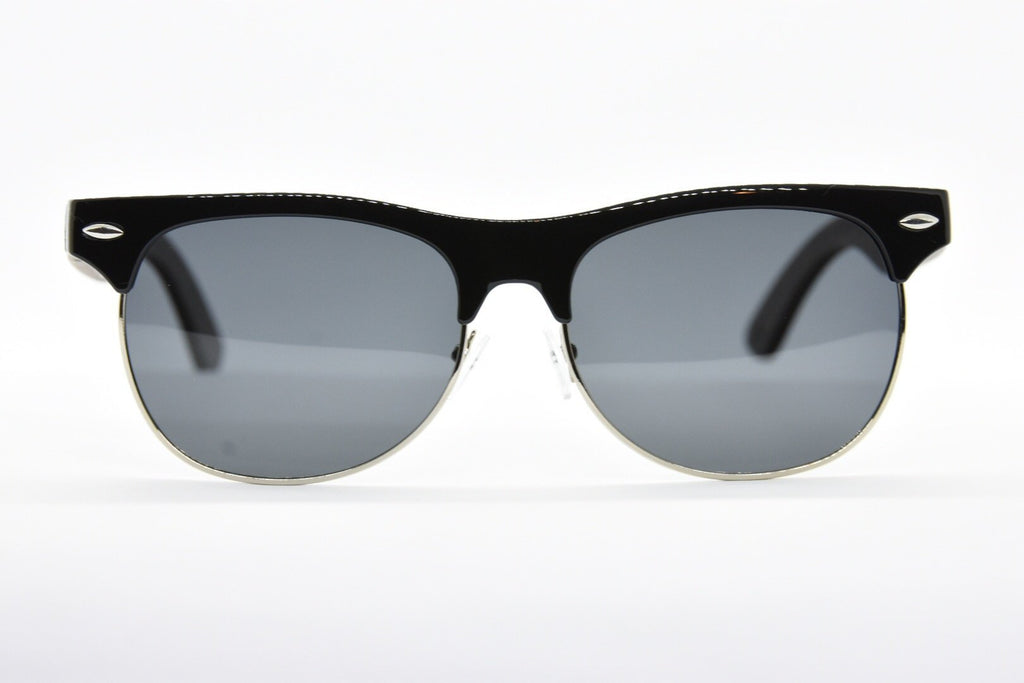 Black Polarized half frame Sunglasses