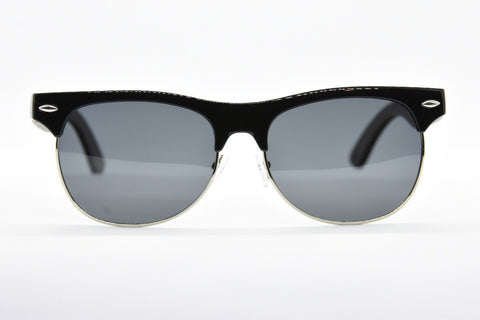 Image of Black Polarized half frame Sunglasses