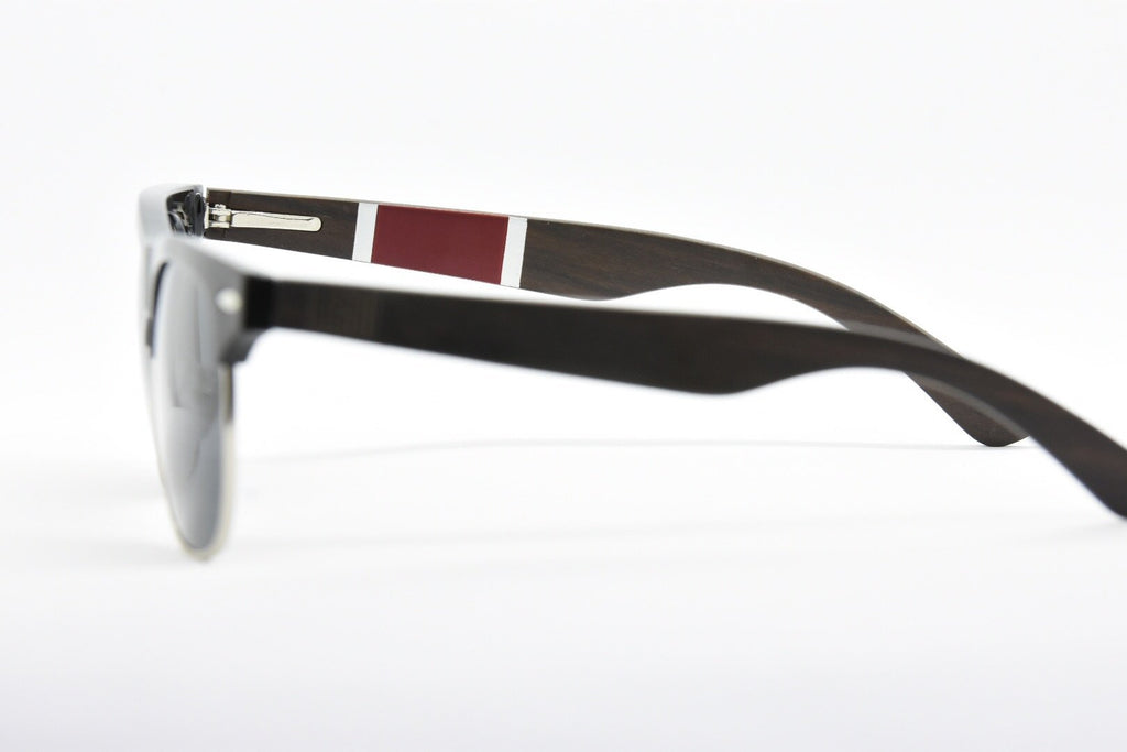 Half frame polarized sunglasses