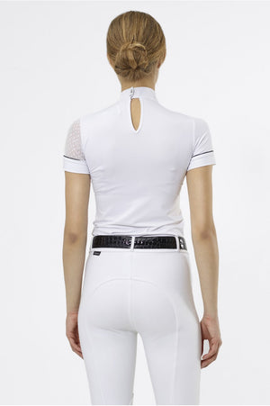 Riding Show Shirt DAME - Short Sleeve, Technical Equestrian Apparel - Leveza