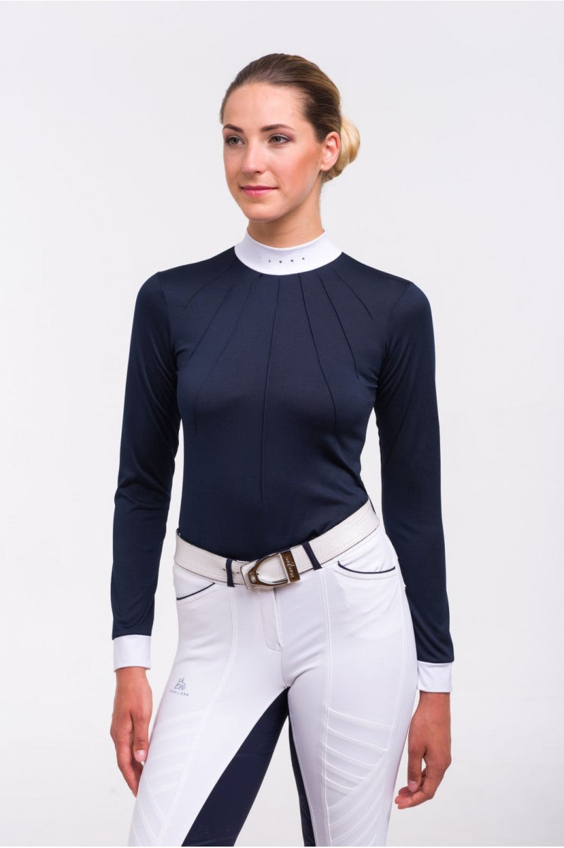 Riding Show Shirt MOON - Long Sleeve. Technical Equestrian Apparel - Leveza
