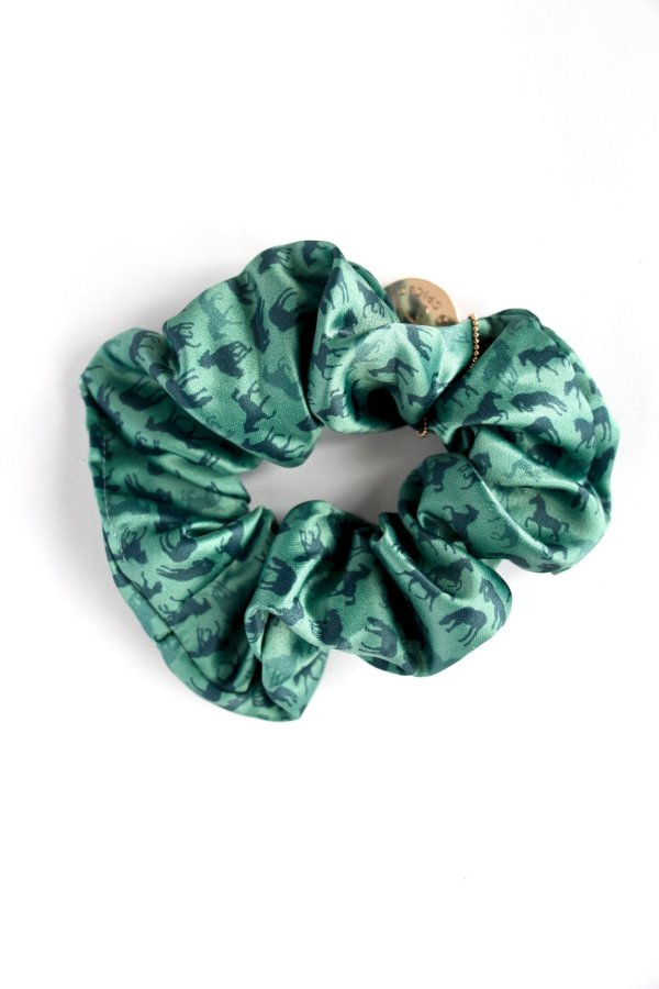 HORSE GIRL SCRUNCHIES - forest -