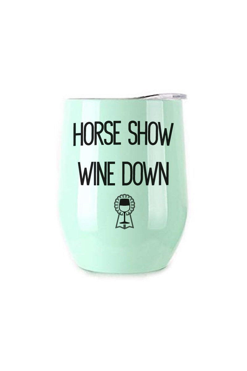 HORSE SHOW WINE DOWN INSULATED CUP MINTH - Leveza