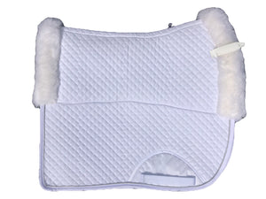 White Limited sheepskin pad - Leveza