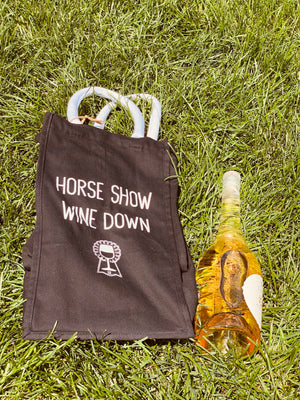 Horse show wine down tote