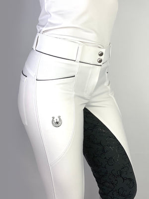Florence white grey breeches
