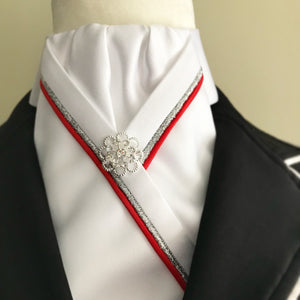 Red and silver stock tie - Leveza