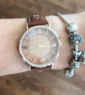 Fancy stitch wrist watch - Leveza