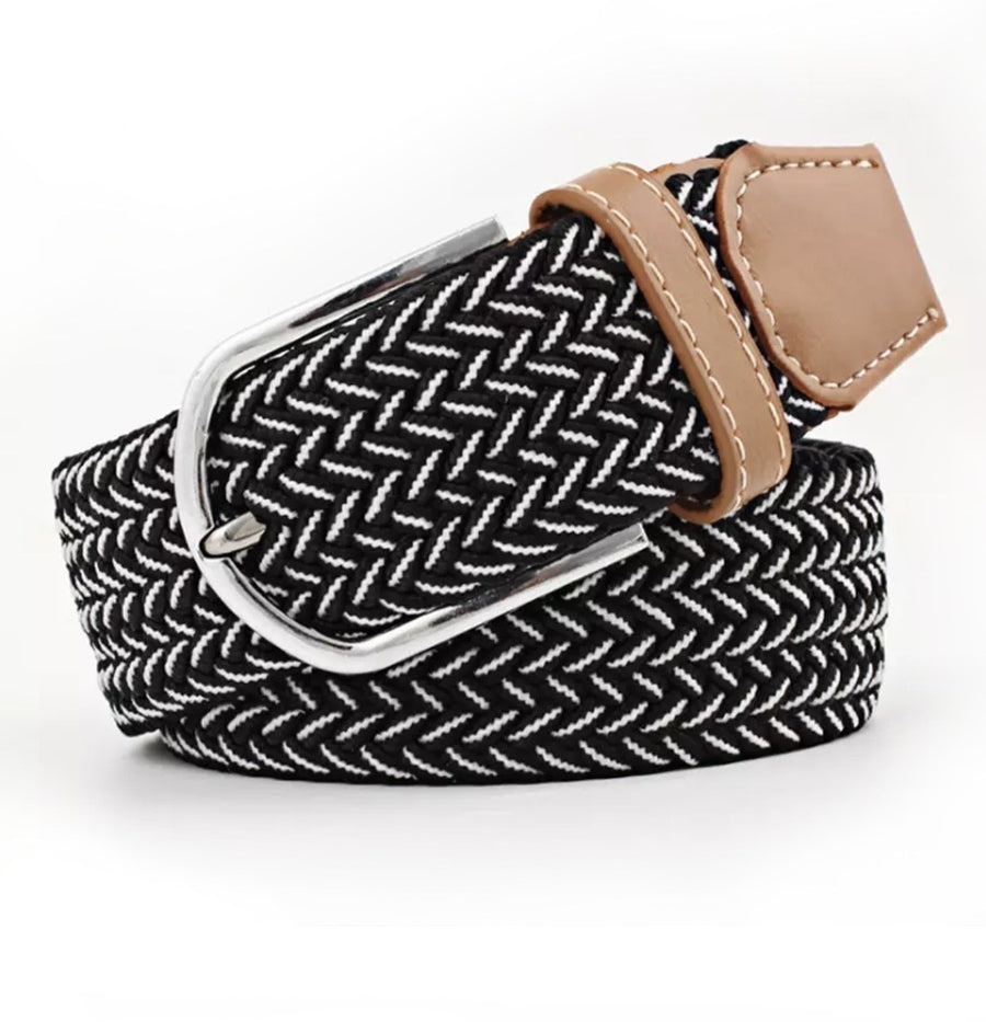 Belt Black White -