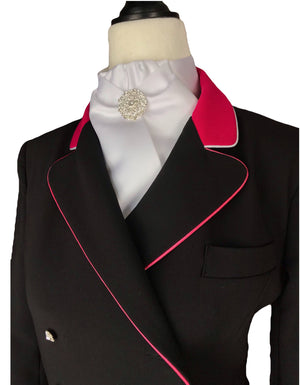 Erin tailcoat Black with pink - Leveza