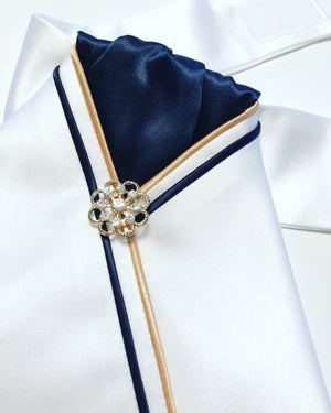 Navy And Gold stock tie - Leveza
