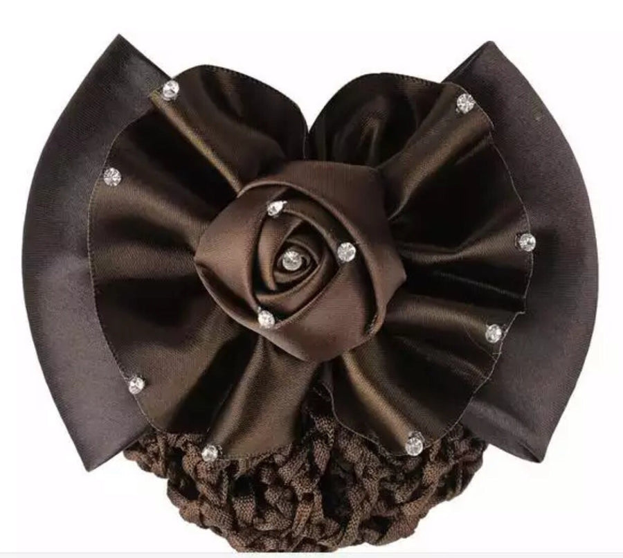 Brown Flower Show bow - Leveza
