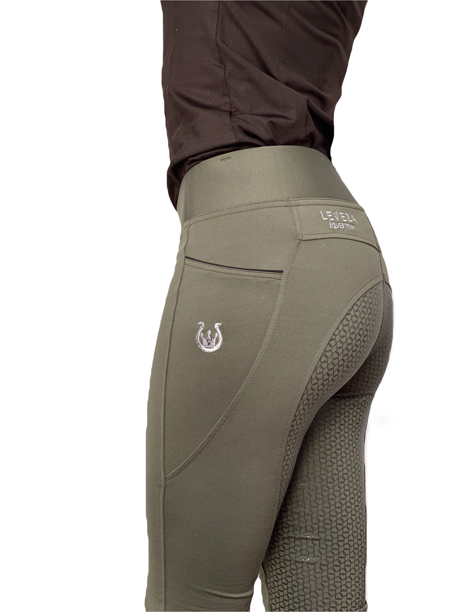 Olive Riding Leggings - Leveza