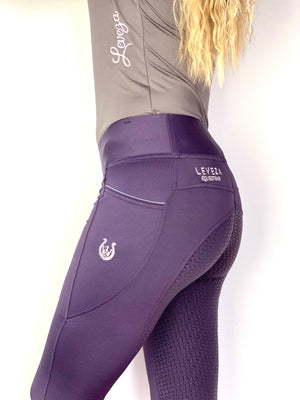 Plum riding leggings