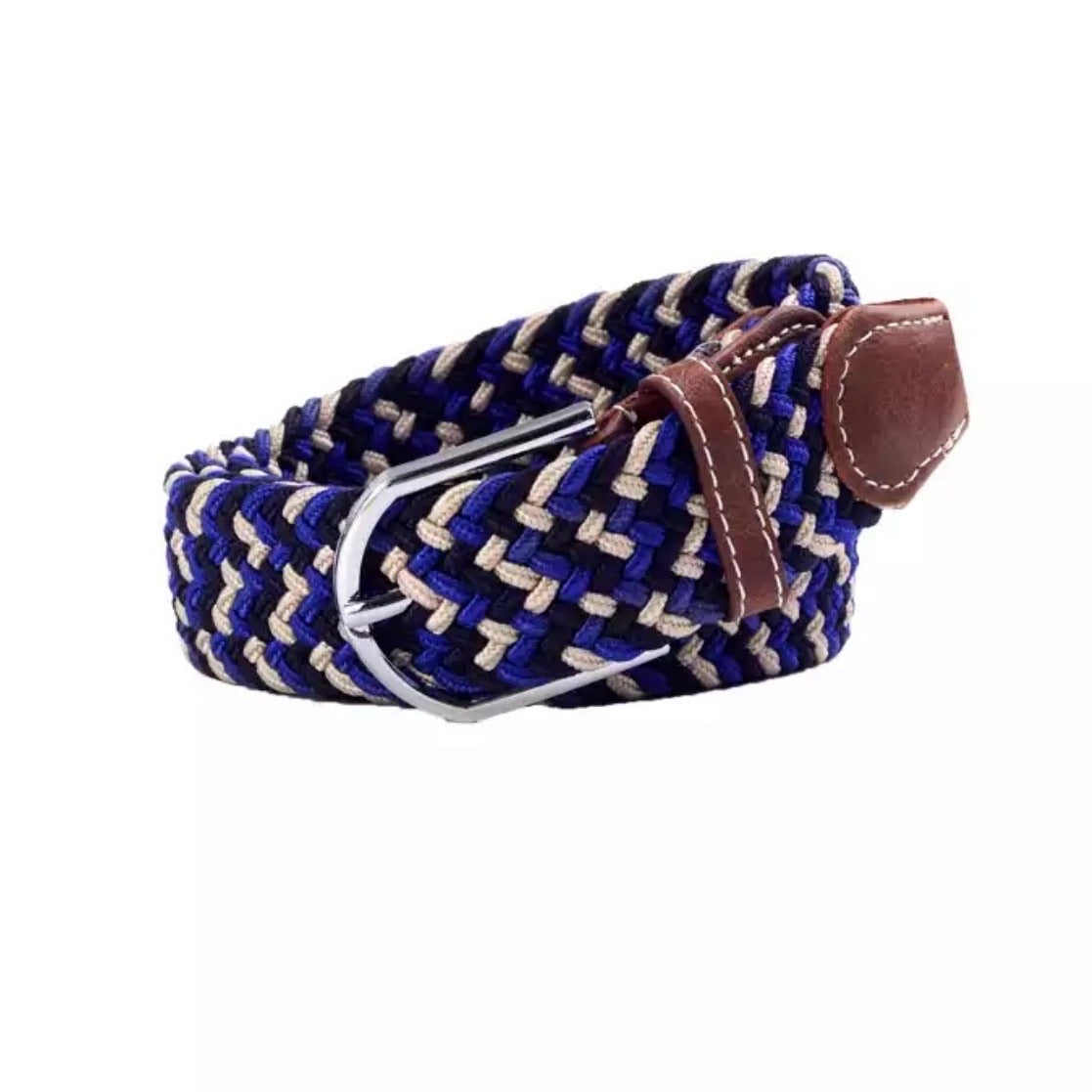 Belt  blue black beige - Leveza