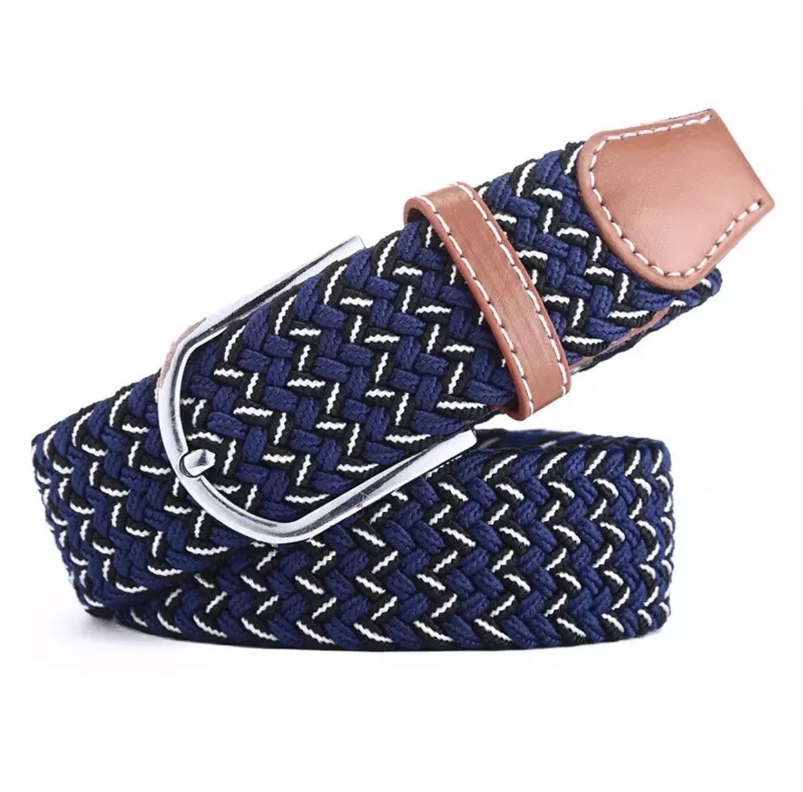Belt navy black