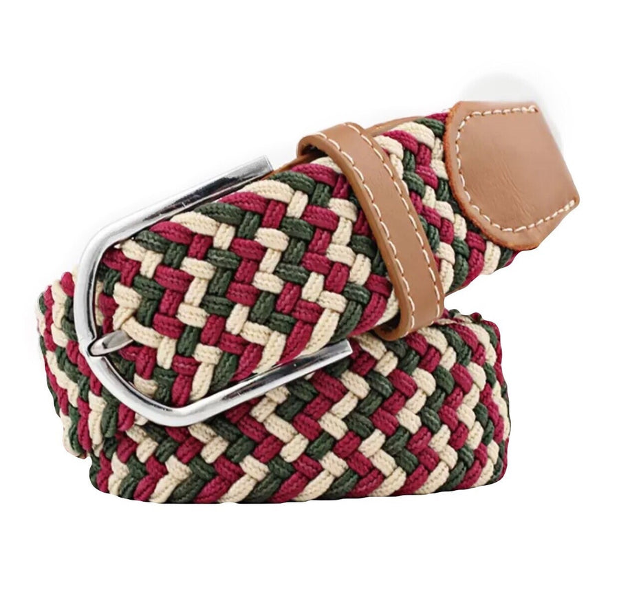 Belt Burgundy green beige - Leveza