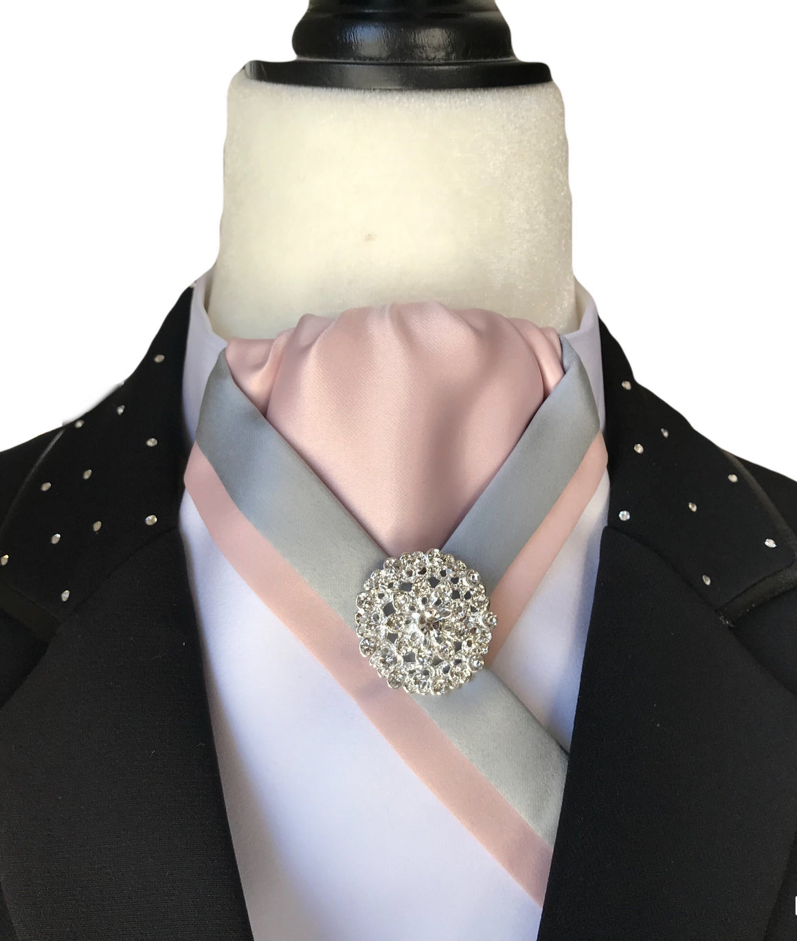 Grey perfect Pink Stock tie - Leveza
