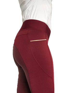 Velvet riding leggings