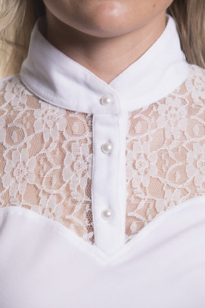 GRACE SHOW SHIRT WITH LACE - Leveza