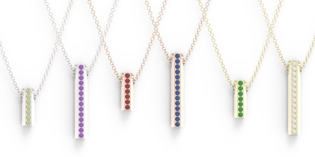 Birthstone Bar Necklaces