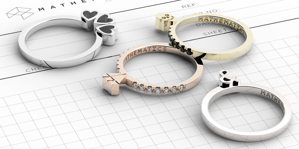 A collection of gold and diamond rings from Beth Macri