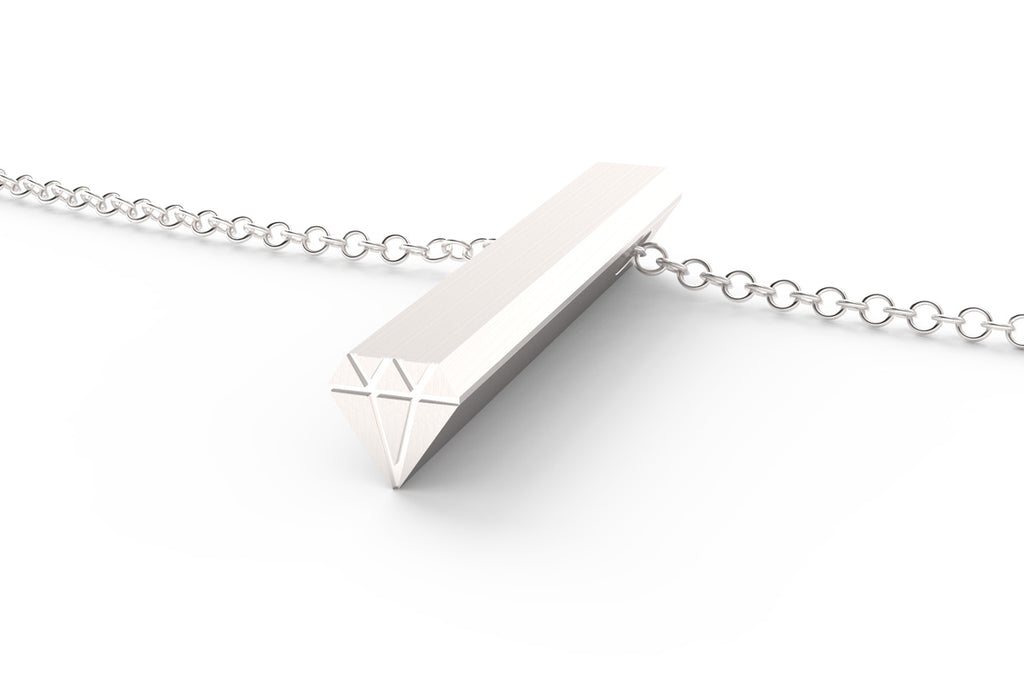 A sterling silver Diamond shaped Hidden Message Necklace
