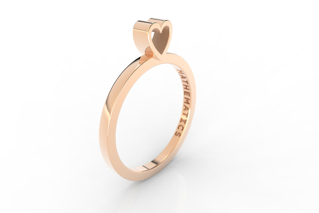 A Heart ring in 14k rose gold