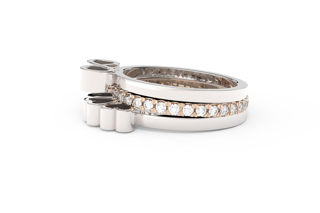 Mathematics ring stack adding sparkle to your look with three rings one